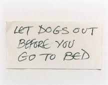 Keith Arnatt, Notes from Jo, 1991-1995