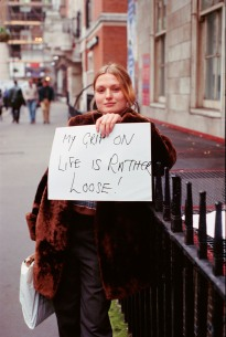 My Grip on Life is Rather Loose, 1993 by Gillian Wearing
