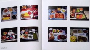 Airline Meals (book view) by Joachim Schmid